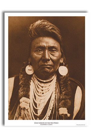 Chief Joseph Art Print by Edward Curtis