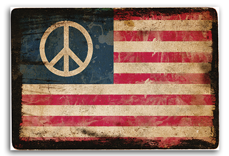 Peace Flag Art Print