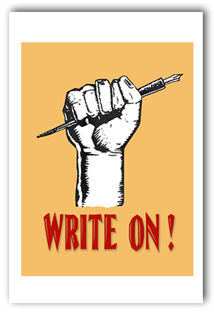 Write On Art Print