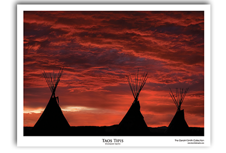 Taos Tipis Art Print by Geraint Smith
