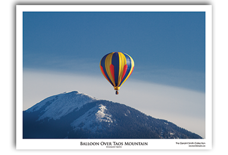 Balloon Over Taos Mountain Art Print by Geraint Smith