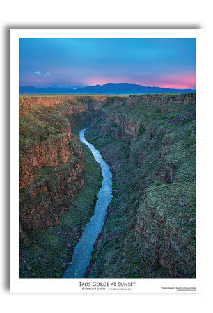 Taos Gorge At Sunset Art Print by Geraint Smith
