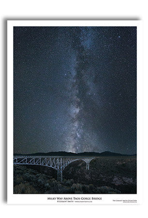 Milky Way Over Gorge Bridge Art Print