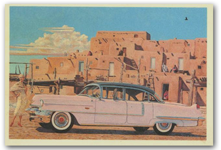 Taos Cadillac Art Print by Jamison Clift