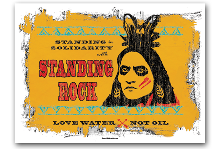 Solidarity With Standing Rock Art Print