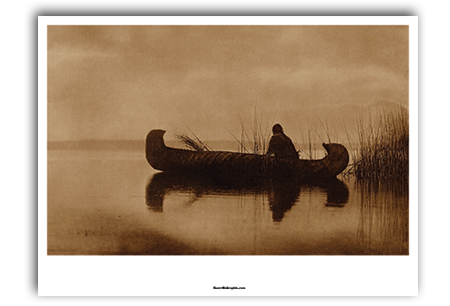 Kutenai Duck Hunter Art Print by Edward Curtis