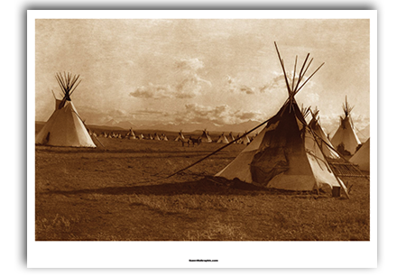 Apache Encampment Art Print by Edward Curtis