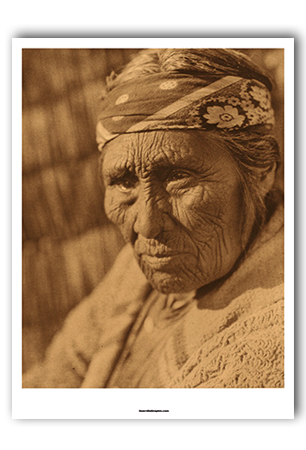 Klamath Woman Art Print by Edward Curtis