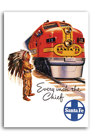 Every Inch the Chief Art Print