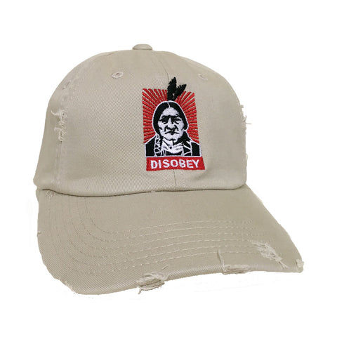 Embroidered Disobey Hat - Stone
