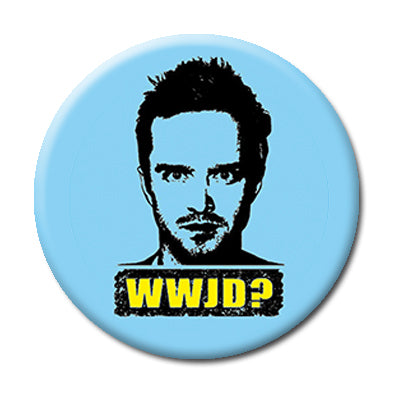 "WWJD : What would Jesse Do? - 2.25"" Pin Back Button"