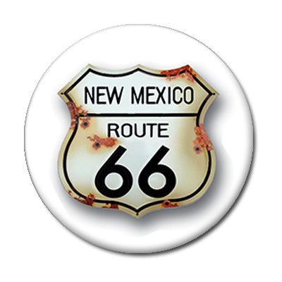 "Route 66 Sign - 2.25"" Pin Back Button"