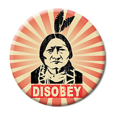 "Disobey Protest Button - 2.25"" Pinback"