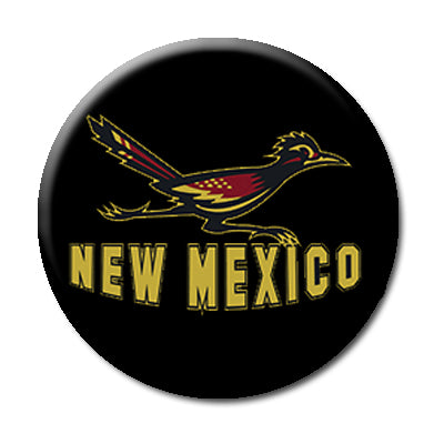 "New Mexico Roadrunner - 2.25"" Pin Back Button"