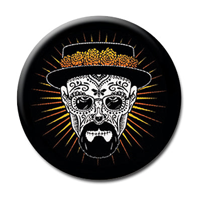 "Heisenberg Sugar Skull - 1"" Pin Back Button"