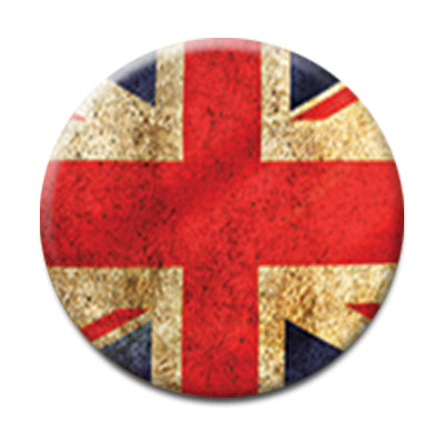 "Union Jack Flag - 1"" Pin Back Button"