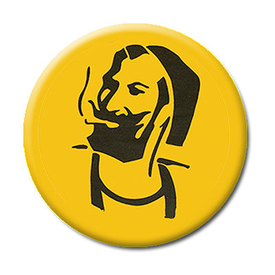 "Zig Zag Man - 1"" Pin Back Button"