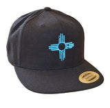Flatbill - Embroidered Zia Hat - Turquoise