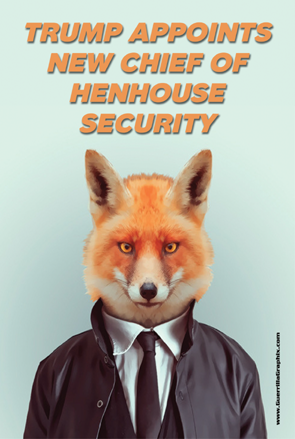 Chief of Henhouse Security Postcard