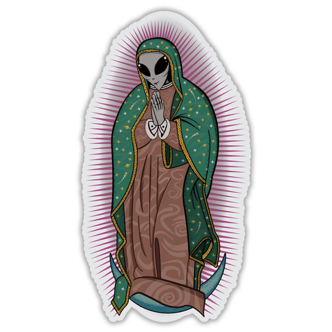 Our Lady de Greydalupe - Clear Vinyl Stickers