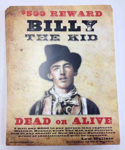 "Billy the Kid Mini Print - 8.5"" x 11"" on Cardstock"