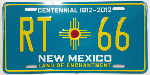 Route 66 Vanity Plate - Centennial Turquoise