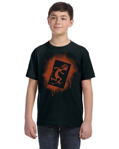 Skateboarding Kokopelli Kid's T-shirt