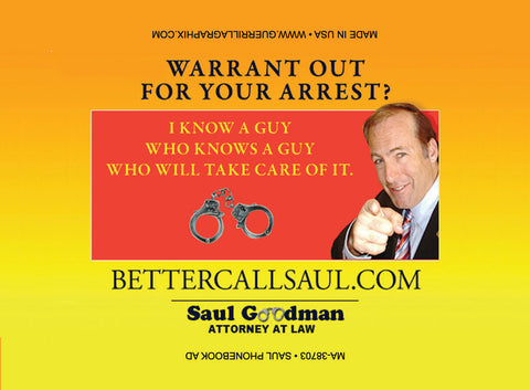 Saul Phonebook Ad Magnet