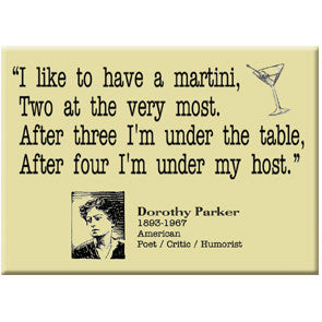 Dorothy Parker Martini Quote Magnet