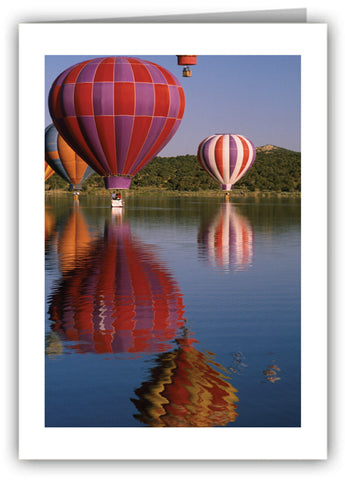 Balloons on the Rio Grande Greeting Card