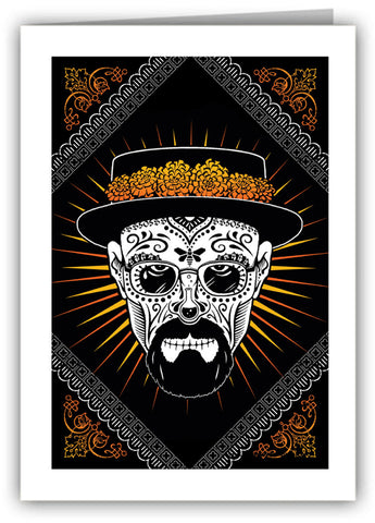 Heisenberg Sugar Skull Greeting Card