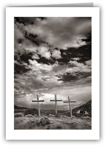 Abiquiu Crosses Greeting Card