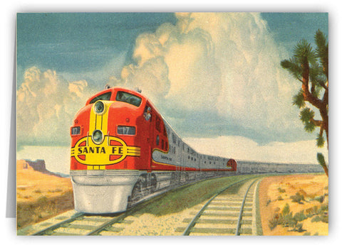 Santa Fe Super Chief Greeting Card