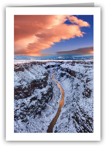 Snowfall on Taos Gorge Greeting Card