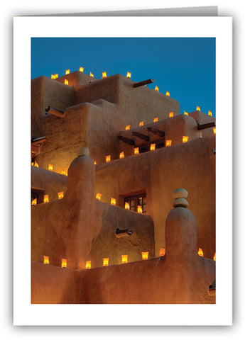 Luminarias- Santa Fe, New Mexico Greeting Card