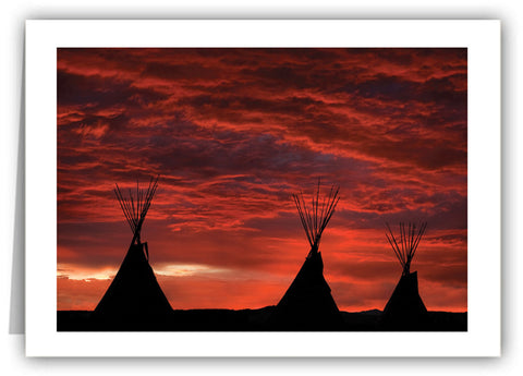 Taos Tipis at Sunset Greeting Card