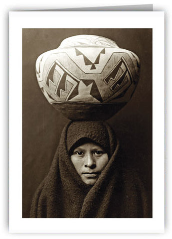 Zuni Pueblo Girl Greeting Card