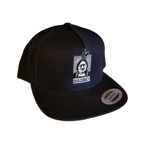 Flatbill - Embroidered Disobey II Hat