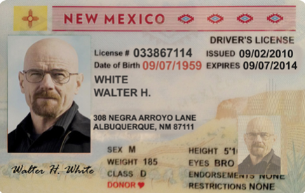 Postcard License Guerrilla – White Nm Drivers Graphix Walter
