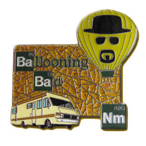Ballooning Bad Gold Lapel Pin