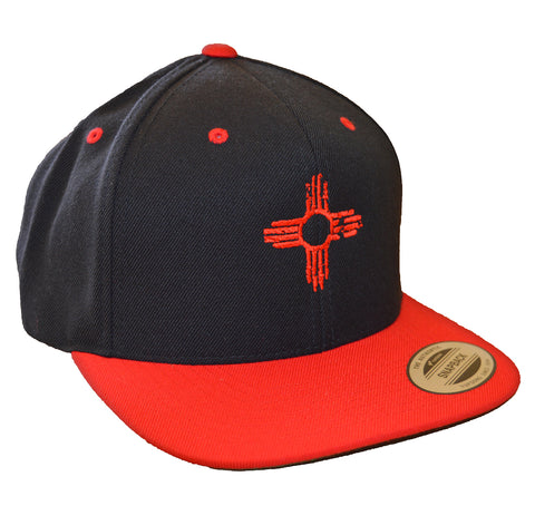 Flatbill - Embroidered Zia Hat - Red