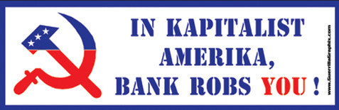 Kapitalist Amerika Sticker