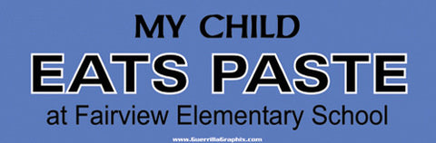 My Child Eats Paste Sticker