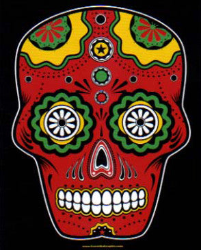 Sugar Skull Color Sticker