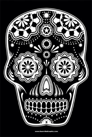 Sugar Skull B&W Sticker