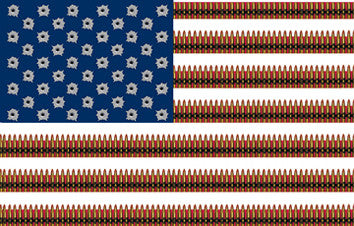 American Flag w Bullets Sticker