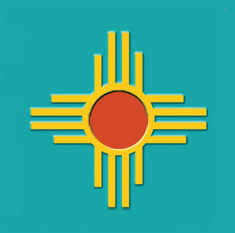 Zia Sticker - New Mexico State Symbol - Turquoise