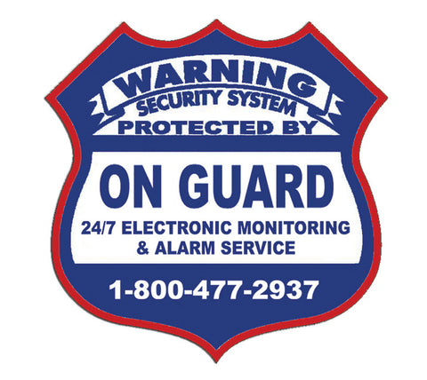 "Security Sticker ""On Guard"" Sticker"