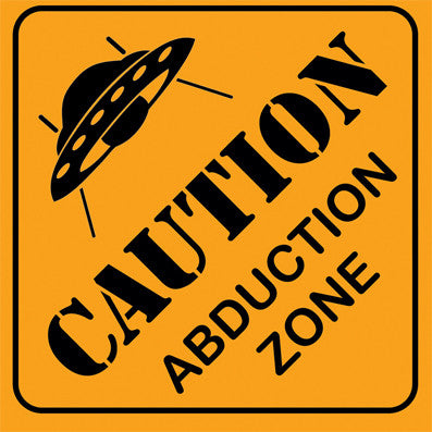 UFO Abduction Zone Sticker