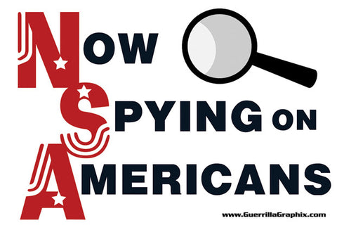 NSA (Now Spying on Americans) Sticker